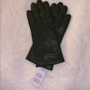 New women's Lands End EZ Touch leather gloves